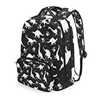 BIGJOKE Backpack Detachable African Dinosaur Pattern Laptop College Student School Shoulder Computer Bags Backpacks Crossbody Bag Travel Daypack Business Bag for Women Girls Men Boy Kids