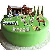 Equestrian Pferd & Pony Kuchen Szene aus Essbar Wafer Papier–Perfekt für Dekorieren Ihren Geburtstag Dekorationen einfach zu verwenden