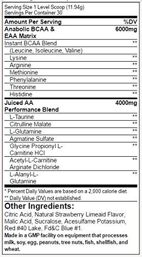 Animal Orange Juiced Amino Servings