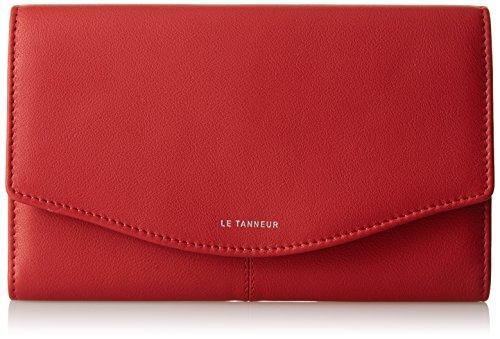 Le Tanneur Portefeuille Valentine TTV3603, Rouge (R1), 2x13x19 cm (W x H x L)