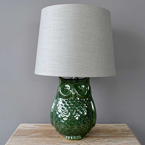 green-reactive-glaze-owl-table-lamp-with-textured-shade-light-lighting-bedside