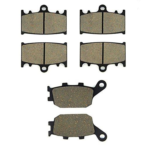SOMMET Pastillas de freno Delanteras + Traseras para Suzuki GSF 650 Naked Bandit ABS & Non ABS (2007-2011)