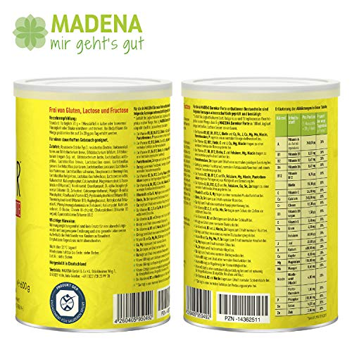 MADENA DARMKUR Forte | 16 verschiedene Probiotika I selektiert + hochdosiert I 20 Milliarden Keime pro Portion I Resist. Stärke Typ 3 I vegan