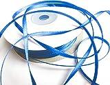 CaPiSo 100m 3mm Breit Satin Schleifenband Geschenkband Satinband Dekoband Hochzeit Weihnachten (Koenigsblau)