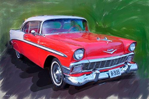 chevrolet-bel-air-1956-peinture-numerique-sur-toile-40x60-cm