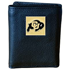 Colorado Buffaloes Genuine Leather Tri-fold Wallet