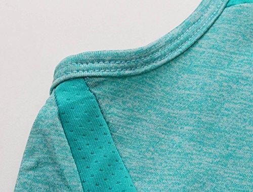 Cody Lundin® Femme Débardeurs confortable Maillot de corps, Sport Fitness Formation Tank Top, T-shirt sans manches Vert