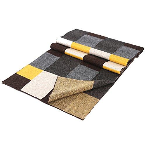 Automne et écharpes hiver hommes/Business casual Plaid épais foulard double/longues et chaude foulard B