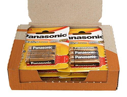 Panasonic Power LR03AAA Alkali-Batterien, Packung mit 48 Stück
