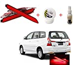 Compatible with Toyota Innova.OEM reflectors are replaced with the Reflector Lights. Adds an elegant look to the rear styling 12V, wiring attached to the tail light. Normal red when lights on, Bright red when braking. Provides added visibility of you...
