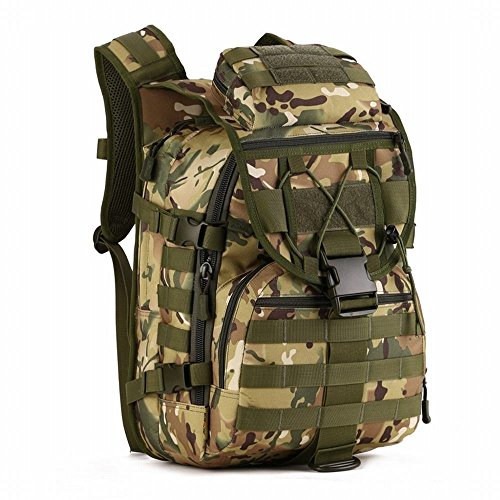 Hung Kai 40L, 6 Colors Camouflage Waterproof and Shockproof Army Fan Fans Tactical Backpack Outdoor Backpack Army Bag (Digital Acu T-shirt Camo)