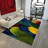 Tierfell Pfauenfeder Große Teppiche Federdekoration Tatami Matten Schlafzimmer Home Lving Zimmer Teppich Boden Teppiche Blau Grün Gelb 160X230CM