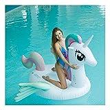 WSGJHB Flotadores inflables de Piscina Flotador Gigante con alas de Unicornio, Juguetes de Fiesta de Natacion, Pool Island, salón de Balsas de Verano para Adultos y niños