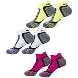 RX SPORT Calcetines de running para mujer 6pares Paquete, especial para ciclismo, multicolor, 36/41