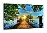 Cuadro sobre lienzo - de una sola pieza - Impresión en lienzo - Ancho: 120cm, Altura: 80cm - Foto número 2573 - listo para colgar - en un marco - AA120x80-2573