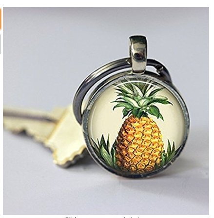 änger Hawaiian Tropical Fruit Hawaii Symbol der Gastfreundschaft Welcome Schlüssel Kette Schlüssel (Ananas-symbol)