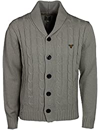 MENS CARDIGAN LEBREVE IN 2 COLOURS NAVY AND STONE RRP£44.99