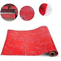 KINLO Stickers Meubles Autocollants Décorations Films Motifs Papier Peint Auto-adhésif 1 Rouleau 5 x 0,61 m en PVC pour Armoires Placards Frigos de Cuisine - Rouge
