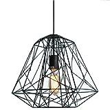 Ouku Hive-Anhänger, ein Licht, Kreativ-Schwarz-Eisen-Malerei Pendelleuchten - Inklusive Glühbirne - Vintage/Retro - Wohnzimmer/Schlafzimmer/Esszimmer/Eingangsraum/Korridor/Garage
