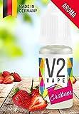 V2 Vape Erdbeer AROMA / KONZENTRAT hochdosiertes Premium Lebensmittel-Aroma zum selber mischen von E-Liquid / Liquid-Base für E-Zigarette und E-Shisha 10ml 0mg nikotinfrei