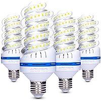 Bro.Light LED Lampe E27, 20W LED Mais lampe Leuchtmittel Ersatz für 150W Glühlampe, Tageslicht Kaltweiß 6000K, 1700 Lumen, 360° Abstrahlwinkel LED Birnen, Nicht Dimmbar, 4er Pack