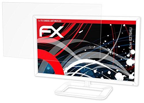 atFolix Panzerschutzfolie für Acer G276HLJ Panzerfolie - FX-Shock-Antireflex blendfreie stoßabsorbierende Displayschutzfolie