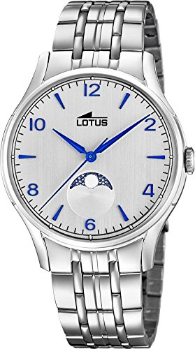 Lotus Klassik 18425/1 Mens Wristwatch Lunar Phase Indicator