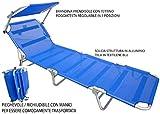 Lettino Brandina Prendisole blu alluminio mare campeggio giardino piscina