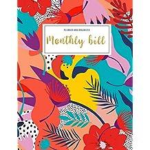 Monthly Bill Planner And Organizer: womens financial planner   3 Year Calendar 2020-2022   Budgeting Workbook Finance Monthly & Weekly Budget Planner ... Floral (Financial Planner Budget Book)