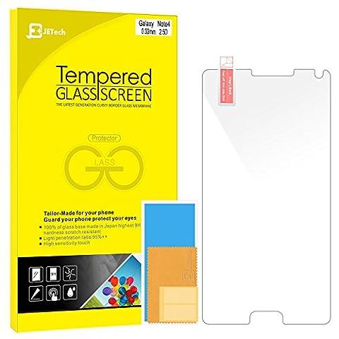 Note 4 Film Protection, JETechà Protection en Verre trempé écran protecteur ultra résistant Glass Screen Protector pour Samsung Galaxy Note 4