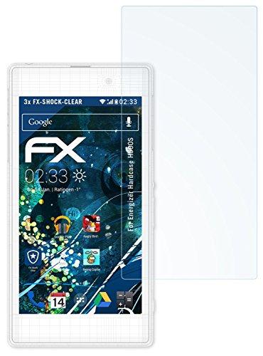 atFolix Schutzfolie kompatibel mit Energizer Hardcase H590S Panzerfolie, ultraklare und stoßdämpfende FX Folie (3X)