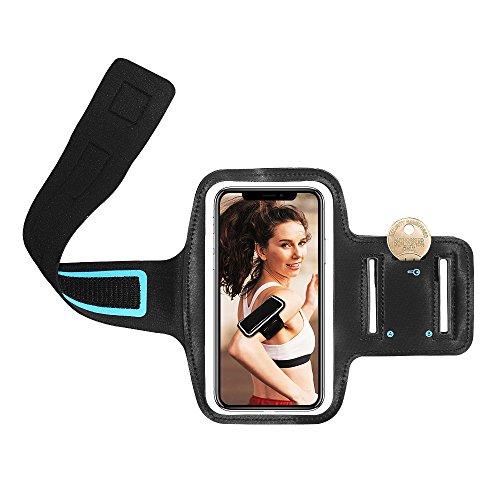 Schweißfestes iPhone Armband, Sport Arm Band Phone Fall Halterung für Running, Fitnessstudio Training & Freien, für iPhone 8 7 6S 6, iPhone SE 5S 5 5 C, Galaxy S7 S6 S5