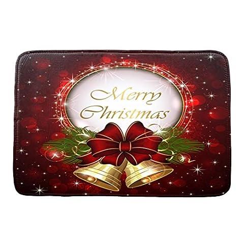Frashing Weihnachtsdrucke Matten, Weihnachten HD Gedruckt Anti-Rutsch Bad Matte Absorbent Home Decor 40*60cm (Hd Weihnachten Wallpaper)
