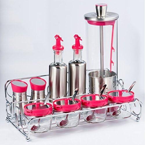 GBT Seasoning Bottle 304 Condimenti stagionati in acciaio acciaio acciaio inox, lattine di vetro, lattine di olio, baccelli di olio, scatole di stagionatura, condimenti domestici Set da bottiglia,,rosa | I Clienti Prima  | Ad un prezzo accessibile  b5b6cc