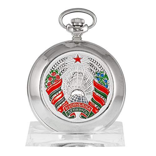 MOLNIJA 3602 Taschenuhr Belarus Weißrussland russische mechanische Uhr