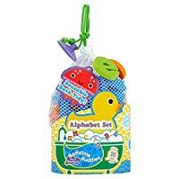 Bathtime Buddies alphabet foam letters set, wet, stick and play includes 65 letters and handy net storage bag