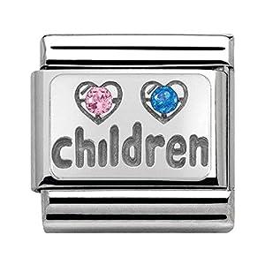 Nomination Unisex-Charm 925 Silber Zirkonia Mehrfarbig – 330304/15