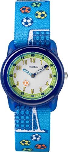 Timex TW7C16500 Jungen-Armbanduhr mit Quarz-Uhrwerk, Analoganzeige und Textil-Uhrenband.
