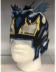 Kalisto blanco Lightning childrems con cremallera máscara de lucha libre
