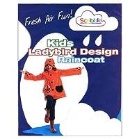 (Scribble) Kids Ladybird Design Raincoat (Large)