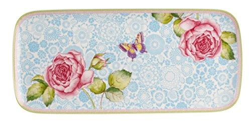 Villeroy & Boch Rose Cottage Kuchenplatte, 35x16 cm, Premium Porzellan, Weiß/Bunt
