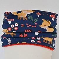 Fleeceloop Schal Füchse blau Mädchen Junge Kinder für 1-5 Jährige