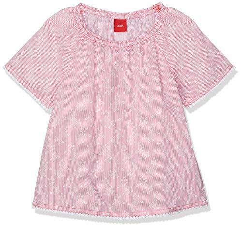 s.Oliver Mädchen 58.904.12.2197 Bluse, Rosa (Pink AOP 45a2), 92 (Herstellergröße: 92/98/REG)