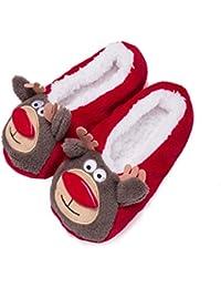 Fralosha las zapatillas calcetines W / ABS 3D animal exclusivo de zapatillas (Negro) gThWCX3