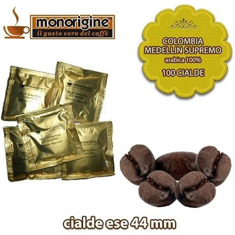 Caffè in 100 Cialde Compatibili Colombia Medellin Supremo - Caffè Monorigine Arabica 100%