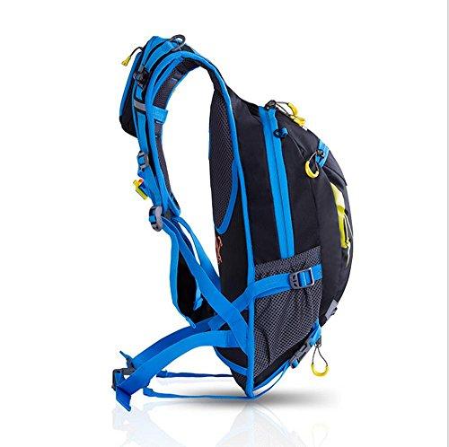 Xiuxiandianju 15L outdoor zainetto zaino bicicletta Double Pack , blue Blue