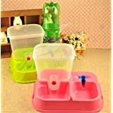 Pets Empire Pet Automatic Feeder Dispenser Dog Puppy Cat Meal Tray Animal Water Bottle Food Bowl Portion Control With Bottle 1 Set Color May Vary