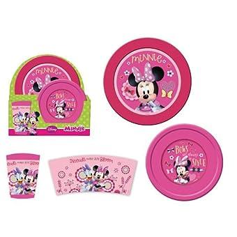 Arditex wd8987–Set petit-déjeuner de 3pièces Motif Minnie Mouse