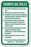 smartsign Aluminium Schild, Legend 'Trampolin Regeln,' 61cm hoch x 45,7cm breit, grün auf weiß