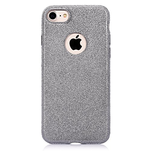 iPhone 7 Étui Soft TPU,iPhone 7 Case Cristal Clair,Hpory Beau élégant Luxury Ultra Thin Soft TPU Gel Silicone Cristal Clair Bling Brillant Miroir Placage Slim Fit Housse de Protection pour Fille Femme *25